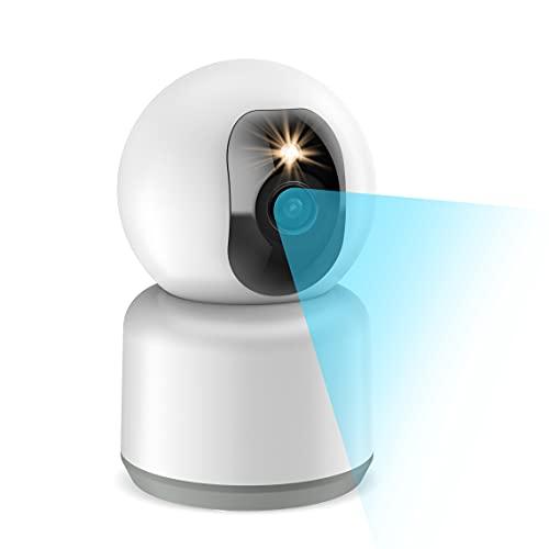 Cámara Vigilancia IP WiFi 1440P Full HD 4MP, 2.4 5GHz Dual Banda, Visión Nocturna en Color, 3X Zoom, Detección de Movimiento Humano, Audio Bidireccional, Cámara Vigilancia Bebé