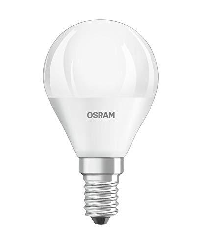 Osram LED STAR Ampoule LED, Forme sphérique, Culot E14, 5W Equivalent 40W, 220-240V, dépolie, Blanc Froid 4000K, Lot de 1 pièce