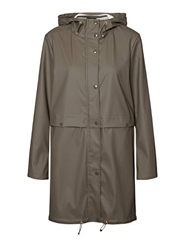 VERO MODA Damen VMEVERYDAY 3/4 Coated Jacket GA Regenjacke, Bungee Cord, M