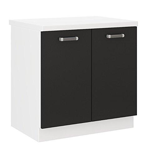 Küchen Unterschrank 80 cm für das Modell,Omega 240 Schwarz + Weiss'