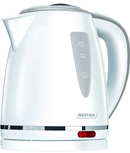MPM Bouilloire d'eau 1 litre blanc 1200 W
