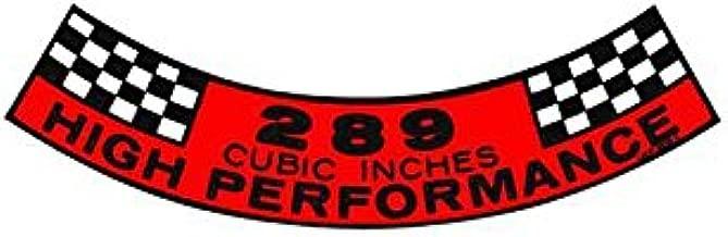MACs Auto Parts 44-47017 - Mustang Air Cleaner Decal, Hi-Po 289 V8