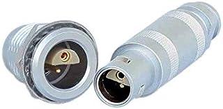 CAMTREE LEMO 1S 2 pins Half-Moon Circular Push Pull Connector (FFA.1S.302-ERA.1S.302)
