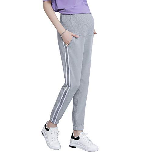 Irevial vrijetijdsbroek voor zwangere vrouwen, comfortabele stretch joggingbroek