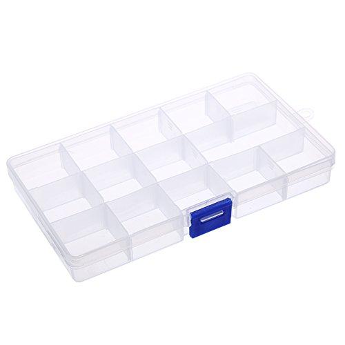 Seawang 15 Grids Verwijderbare Plastic Opbergdoos Sieraden/Oorbel/Gereedschap Container Case
