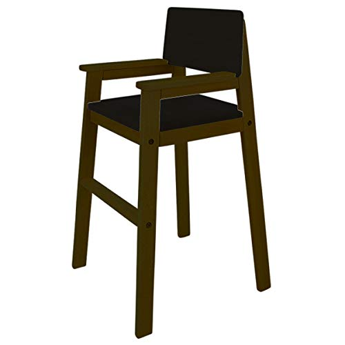 Kinderstuhl Hochstuhl Massivholz Buche Farbe PALISANDER/Schwarz Treppenhochstuhl Buche für Esstisch, Kinderhochstuhl für Kinder, stabil & pflegeleicht viele Farben möglich