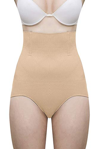 Shoppy Villa Women's No Roll Down Tummy Control Shapewear (Skin, Free Size)