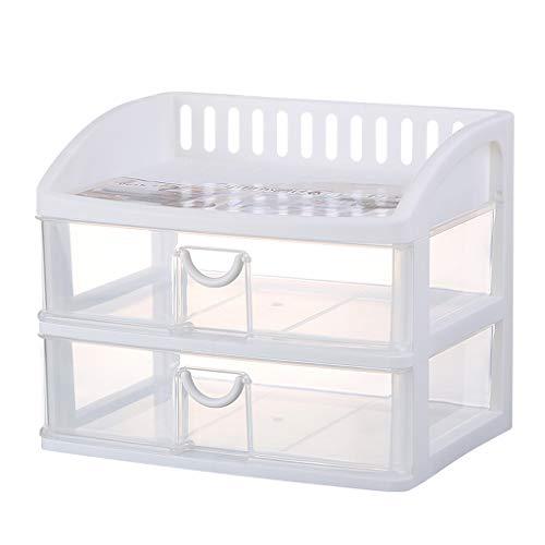KKY-ENTER Boîte de rangement cosmétique transparente en plastique Type de tiroir de bureau Rouge à lèvres Bijoux Produits de soin de la peau Boîte de stockage Affichage (taille : 34 * 25 * 29cm)