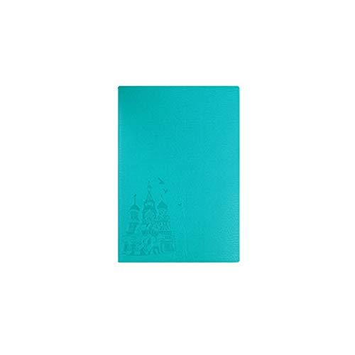 Dzwyc Cuaderno A5 PU Soft Cuero Cuaderno Papel Grueso Notepad Hardcover - Reglase 5.6'x8.3 Naranja Diarios (Color : Mint Green, tamaño : A5)