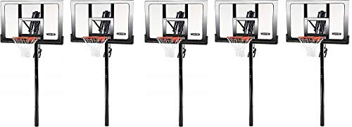 Lifetime 71281 In Ground Power Lift Basketball System, 52 Inch Shatterproof Backboard (5)