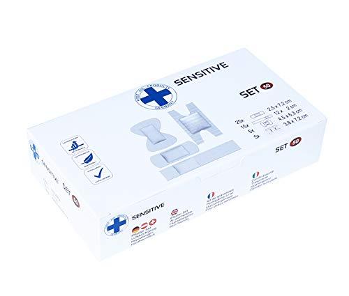 Premium Wundpflaster Pflasterverband hypoallergen verschiedene Sets 50-100 Stück (620356 Pflaster Set SENSITIV VE: 50Stück)