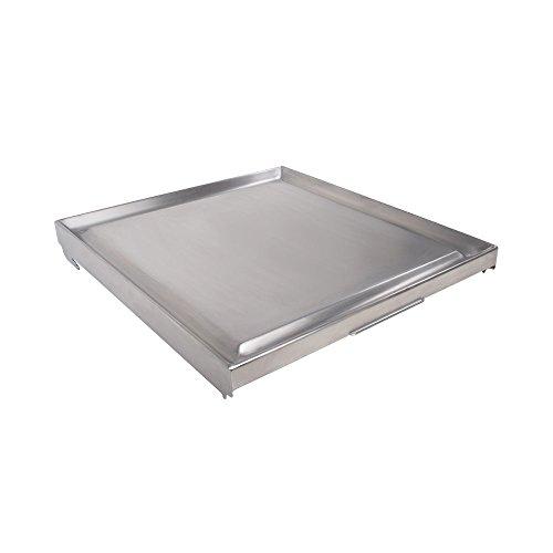 31UUhqugEEL - Funco Teppanjaky Platte mit 8mm Alukern 9 kg Grillzubehör, Edelstahl, 50x50x5 cm