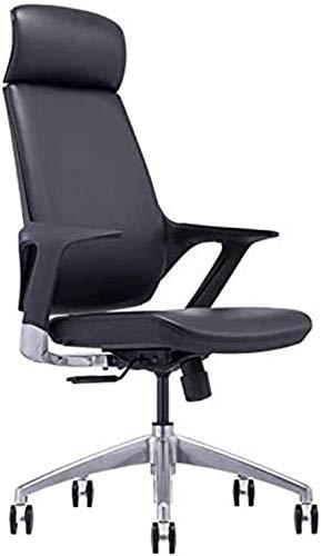 Silla de oficina giratoria ejecutiva High-Back, cuero ejecutivo, giratorio, silla de escritorio de oficina ajustable con ruedas, silla de elevación de diseño ergonómico, reversión ergonómica de alta e