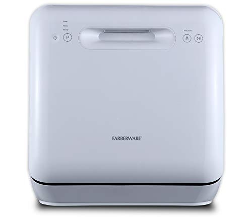 Farberware Professional Complete Portable Countertop Dishwasher with 5-Liter Built-in Water Tank, 3...