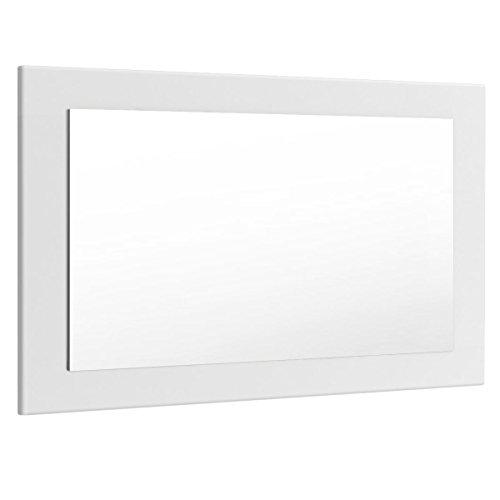 Vladon Spiegel Wandspiegel Lima 89cm in Weiß matt