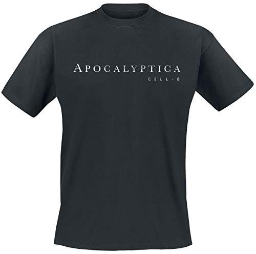 Apocalyptica Cell-O Männer T-Shirt schwarz L 100% Baumwolle Band-Merch, Bands