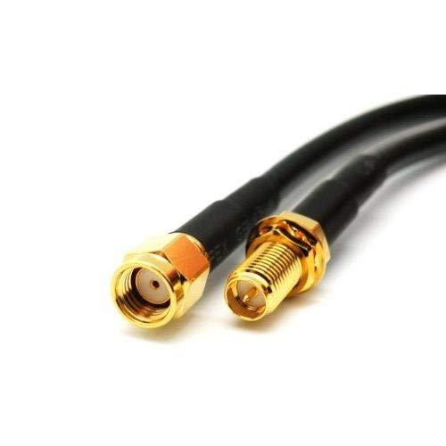 Cable de Antena RP-SMA 75 Ohm 2 Metros Negro, Cablepelado®