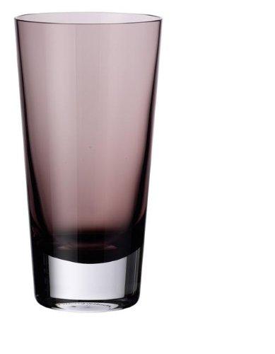 Villeroy & Boch Colour Concept Longdrinkglas Burgundy, 420 ml, Glas, Klar/Dunkelrot