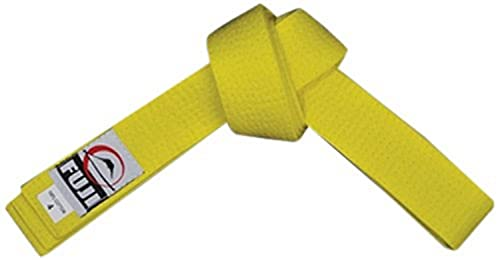 FUJI – Sports Belt, All-Purpose Martial Arts Belt, Judo Belt, Colorful Karate Belt, Durable MMA Belt , Yellow