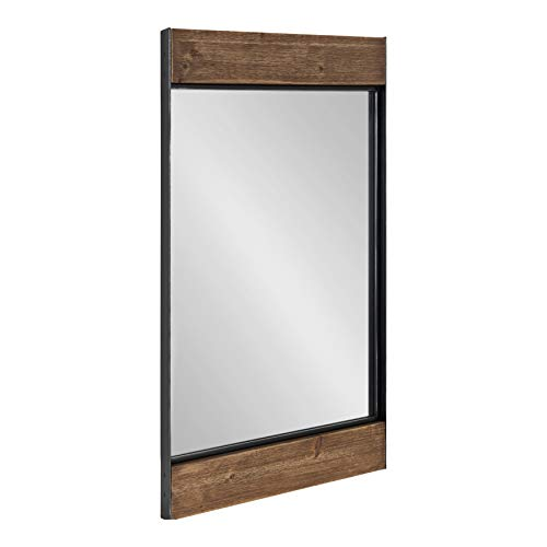 Kate and Laurel Kincaid Farmhouse Wood and Metal Framed Mirror, 20 x -