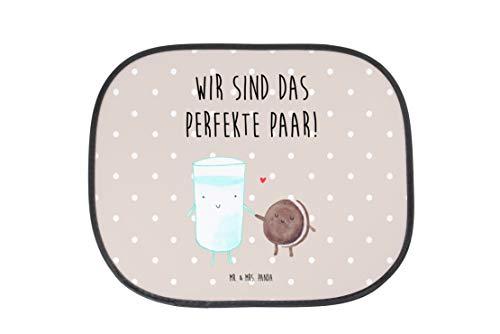 Mr. & Mrs. Panda Auto Sonnenschutz Milch & Keks - 100% handmade in Norddeutschland - Milk, Cookie, Milch, Keks, Kekse, Kaffee, Einladung Frühstück, Motiv süß, romantisch, perfektes Paar, Sonnenschutz, Auto Sonnenschutz, Sonnenblende, Fenster, PKW, Kinder, Familie, Geschenk, Urlaub, Rücksitz, Sonne Milk, Cookie, Milch, Keks, Kekse, Kaffee, Einladung Frühstück, Motiv süß, romantisch, perfektes Paar,