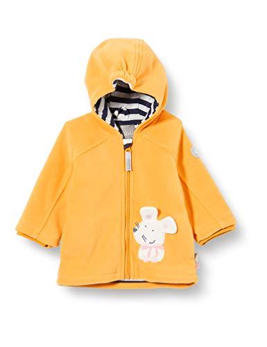 Sigikid Baby-Mädchen Fleecejacke mit Kapuze Größe 062-098 Fleece-Jacke, Gelb, 86
