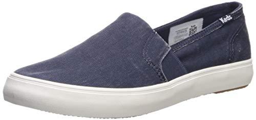 Keds Women's Clipper Slip On Sneaker, Navy, 8