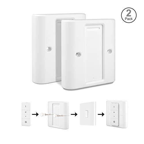Rhodesy Lichtschalter Abdeckung für Philips Hue Wireless Dimming Schalter, Hoch kompatibles Weißes Adapter-Konvertergehäuse Geeignet für EU-Standardschalter, Pack of 2