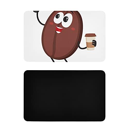Imanes Cuadrados de Cocina Divertidos Granos de café Rostro Humano Imanes Grandes para refrigerador Imanes Decorativos de PVC para refrigerador Accesorios Divertidos de Cocina 4x2.5 Pulgadas
