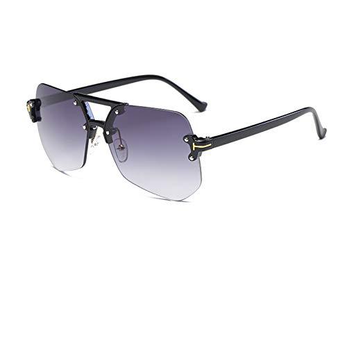 Ashtray Gafas Transparentes Grandes Montura de Gafas de Sol poligonales Irregulares sin Montura de Espejo Plano sin Montura,5
