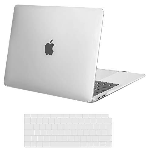 MOSISO Hülle Hartschale Kompatibel mit 2020 2019 2018 MacBook Air 13 A2337 M1 A2179 A1932 Retina Display,Plastik Schutzhülle&Tastaturschutz Kompatibel mit MacBook Air 13 Zoll,Frost