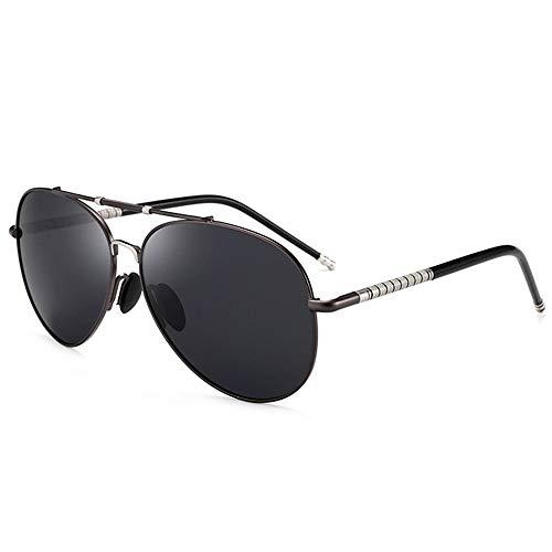 SWNN Gafas de Sol Negro UV400 Gafas De Sol Polarizadas for Hombres Gafas De Sol for Hombres Películas De Día Y De Noche