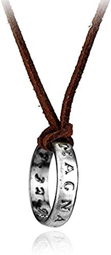 NC83 Collar de hombre Collar de cuero Ps4 Game Uncharted 4 A Thief S End Nathan Drake Collares pendientes para mujercord Collar de cadena larga Joyería Hombres