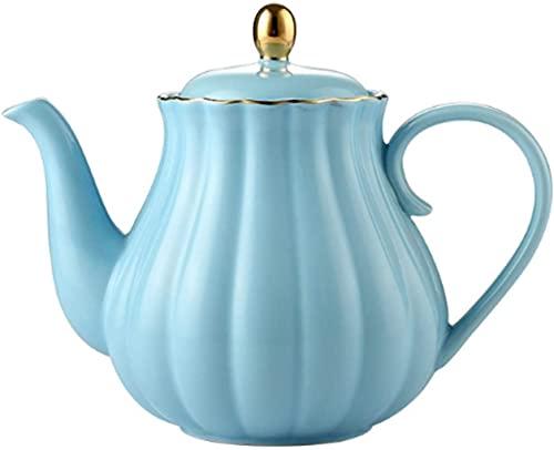 ZQADTU Juego de té, Tetera de cerámica, Forma de Calabaza, Pintado a Mano, Tetera de Porcelana de Hueso Dorado, Juego de Tetera, Tetera Exquisita