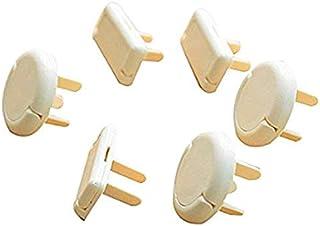 6 قطع من اغطية المقابس الكهربائية المزوّدة بقفل لحماية الاطفال الرضّع من قطع الاتحاد الاوروبي القياسيّة