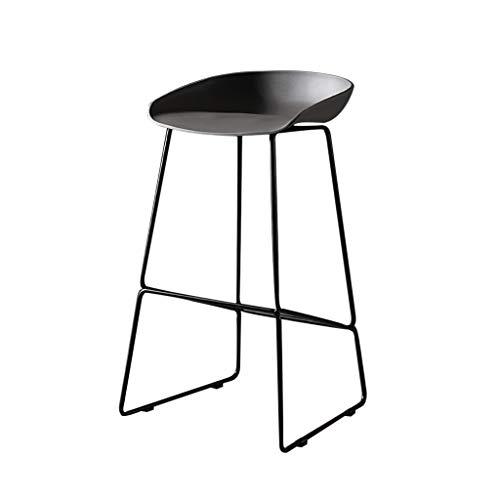 Hedendaagse barkruk/PP-stoel met metalen buisbeen zwart/vaste hoogte barkruk, kantoor/huis/restaurant, rood, Roze, Wit, Blauw, Geel (Maat: 75cm)