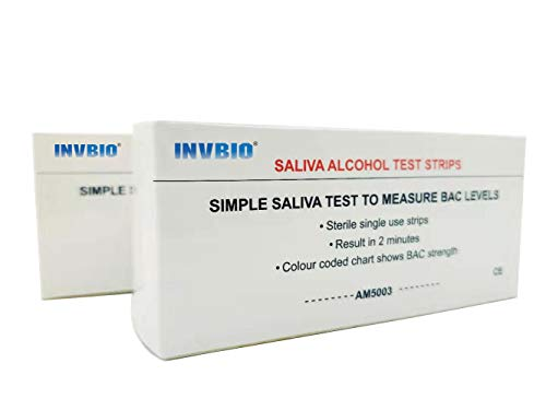 INVBIO Home Alcohol Saliva Test Strips Kit, Alcohol Tester, Accurate and 2 Minutes to Get Results (10 Count)