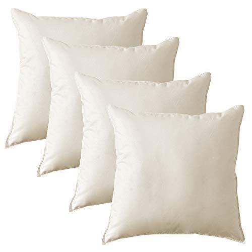 MACK - Basic Kissen Set mit Federfüllung | Federkissen für einen erholsamen Schlaf | 40x40 cm - 4er Set