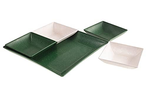 Conjunto 5 Petisqueiras Evo Verde Folha