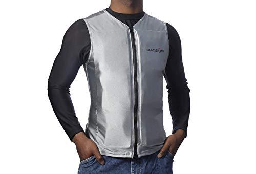 Glacier Tek Flex Vest Cool Vest with Nontoxic Cooling Packs Gray Small (Chest Size 29-35)