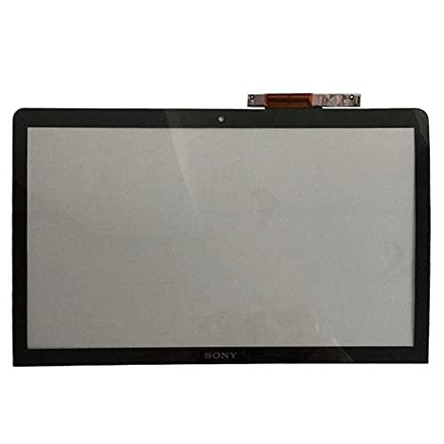 YUHUAI Compatible con Sony Vaio SVF1521GSAW SVF1532BCXW SVF151G13M bisel cubierta pantalla táctil
