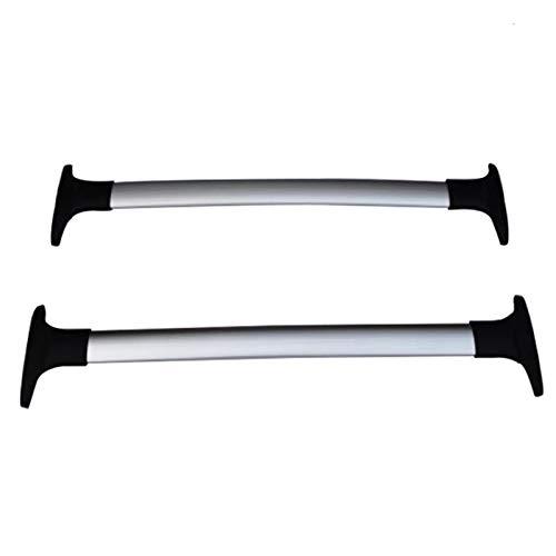 2 unids Barras de techo para Ford EcoSport 2013+ 2019 2018 Aleación de aluminio Barras laterales Cross Rails de techo Equipaje CUV SUV Baca Coche Universal (Color : A)