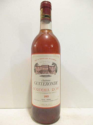 bordeaux château guiteronde rosé 1985 - bordeaux