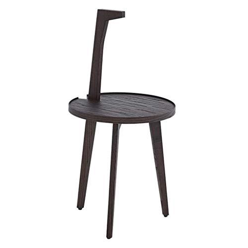 Zijtafel van massief hout, eenvoudige moderne hoek, drie voeten, persoonlijk handvat, kleine salontafel/essenhout donkere salontafel (grootte: 40 × 81cm)