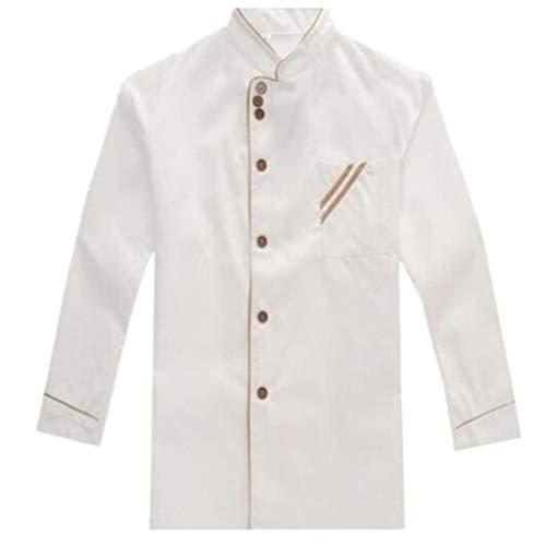 Toporchid Food Service Tuch Küchenchef Jacken Uniform Langarm Hotel Koch Arbeitskleidung Kleidung Restaurant Chef Kleidung (Xl)