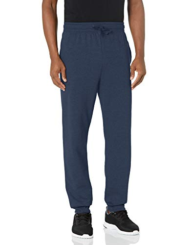 Hanes Men's Jogger Sweatpant with Pockets, Navy, Large