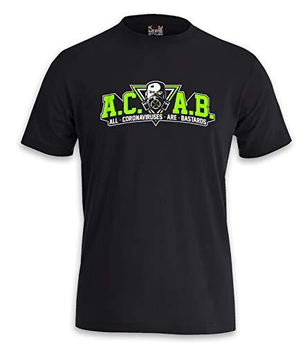 T-Shirt All Corona Viruses Are Bastards (L)