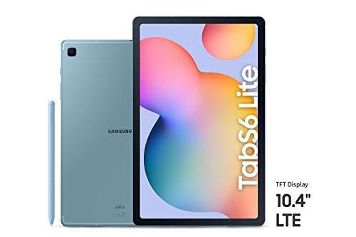 SAMSUNG SM-P615NZBAXSG Galaxy Tab S6 Lite, 64GB, 4GB RAM, LTE, UAE Version – Blue