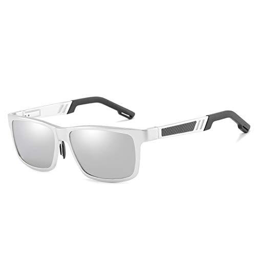 Gafas De Sol Polarizadas De Colores para Hombre con Monturas De Aluminio-Magnesio 100% UV400, Adecuadas para Hombres Y Mujeres, Ciclismo, Pesca, Conducción,C