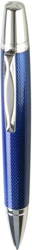 Waterford Kilbarry WF 452 GBL Ball Pen Capless Roller Ball Guilloche Blue Lacquer